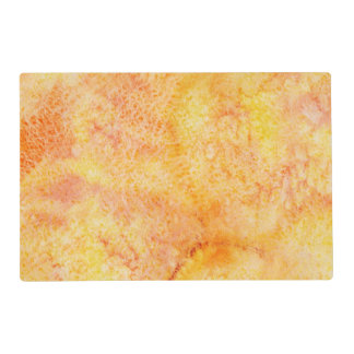 Orange Watercolor Background Placemat