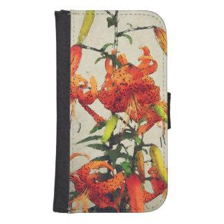 Orange Watercolor Tiger Lily 1 Phone Wallet