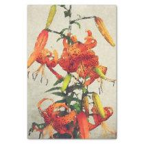 Orange Watercolor Tiger Lily 1 Tissue Paper