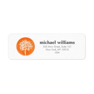 Orange Watercolor Tree Life Coach, Counselors Label