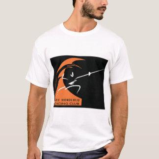 orange wave; white fencer T-Shirt