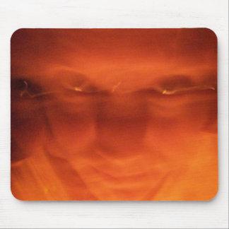 Orange weird face eyes looking up mousepads