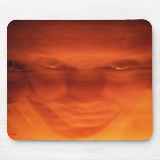 Orange weird face eyes looking up mouse pads
