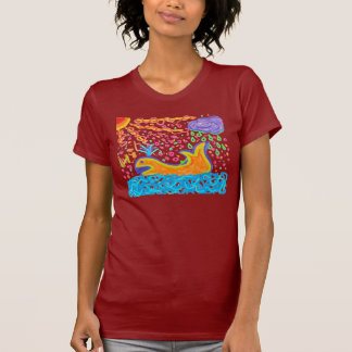 Orange whale in the sea Shirt