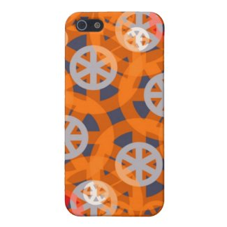 Orange Wheel Abstract Pattern iPhone 4 Speck Case Cover For iPhone 5