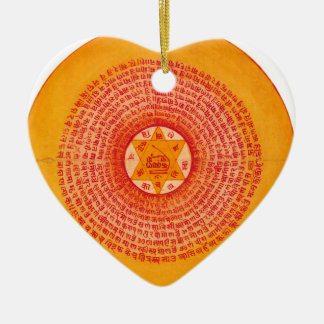 Orange Wheel Christmas Tree Ornaments