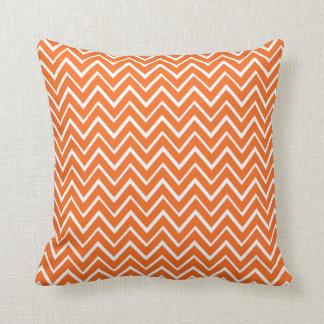 Orange whimsical zigzag chevron pattern pillow