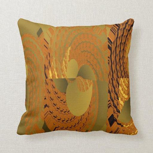 Orange Whirl Pattern American MoJo Pillow