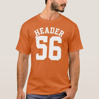 Orange & White Adults | Sports Jersey Design T-Shirt