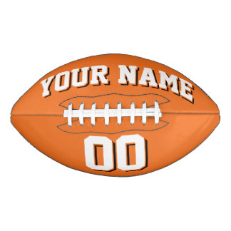 ORANGE WHITE AND BLACK Custom Football