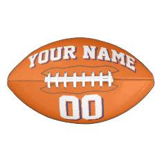 Orange White And Blue Custom Football at Zazzle