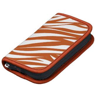 Orange White Animal Stripe Pattern AS Folio Planners
