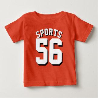 Orange & White Baby | Sports Jersey Design Baby T-Shirt
