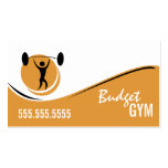 Orange White Black Gym Work Out Business Card