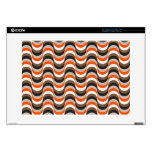 "Orange, White, Brown Retro Fifties Abstract Art Decal For 15"" Laptop"