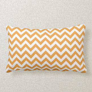 Orange White Chevron Pattern Throw Pillows