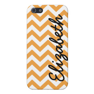 Orange White Chevron Pern Cover For iPhone SE/5/5s