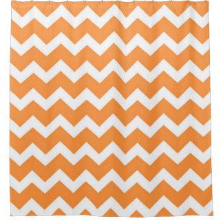 Curtains Ideas chevron stripe shower curtain : Orange And White Chevron Shower Curtains | Zazzle