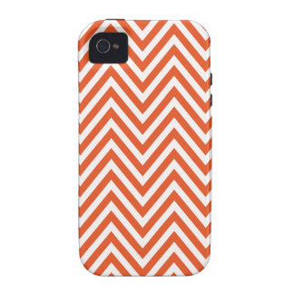 Orange White Chevron Zig Zag  iPhone 4 Case