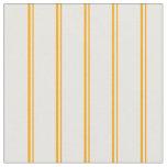 [ Thumbnail: Orange & White Colored Pattern of Stripes Fabric ]