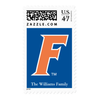 Orange & White Florida F Logo 2 Postage