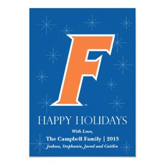 Orange & White Florida F Logo Card
