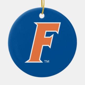 Orange & White Florida F Logo Ceramic Ornament