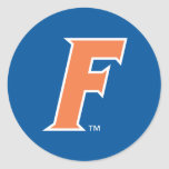 Orange & White Florida F Logo Classic Round Sticker