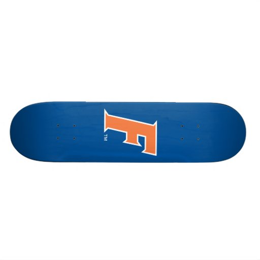 Orange & White Florida F Logo Skateboard Deck