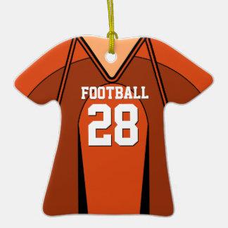 Orange/White Football Jersey 28 V1 Ornament