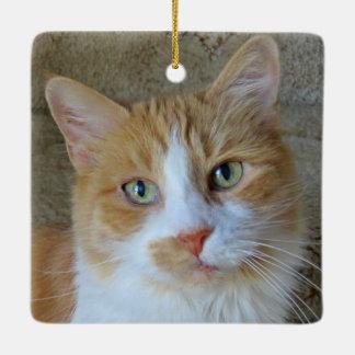 Orange & White Ginger Cat Ornament