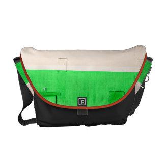 Orange White Green Messenger Bag