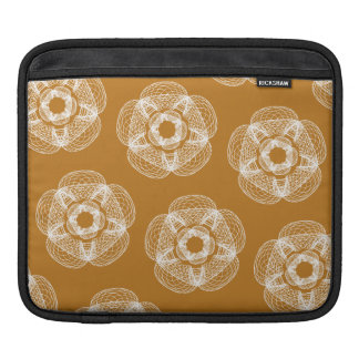 orange white guilloce pattern iPad sleeves