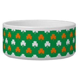 Orange & White Heart Clover on Green St. Patrick's Bowl