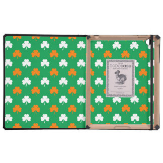 Orange & White Heart Clover on Green St. Patrick's Covers For iPad