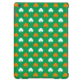 Orange & White Heart Clover on Green St. Patrick's iPad Air Cases