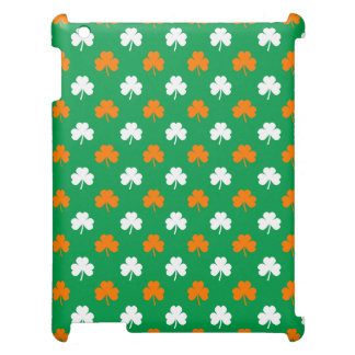 Orange & White Heart Clover on Green St. Patrick's Cover For The iPad 2 3 4