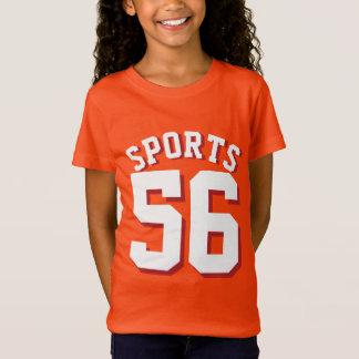 Orange & White Kids   Sports Jersey Design T-Shirt