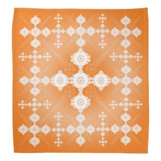 Orange White Lacy Celtic Bandana