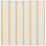 [ Thumbnail: Orange & White Lined/Striped Pattern Fabric ]