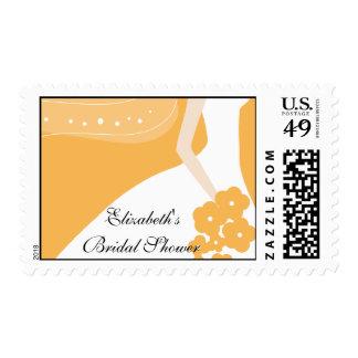 Orange / White Modern Bride Bridal Shower Stamp