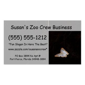 Orange & White moth against dark background Business Card