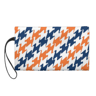 Orange White Navy Blue Team Colors Denver Football Wristlet