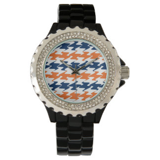 Orange White Navy Blue Team Colors Denver Football Wristwatches
