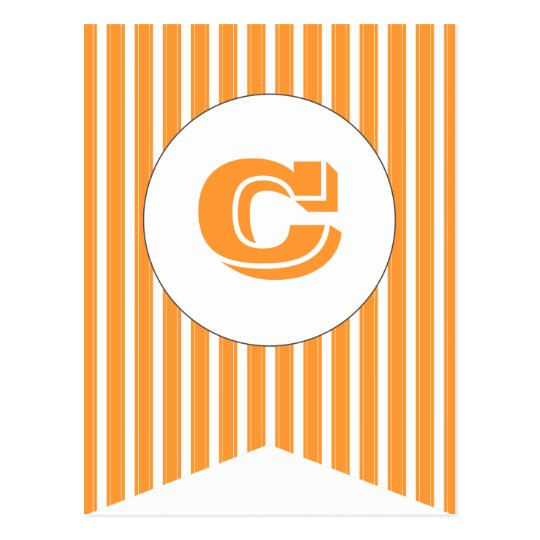 Orange | White Party Flag Bunting Banner Post Card