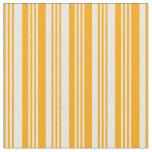 [ Thumbnail: Orange & White Pattern of Stripes Fabric ]