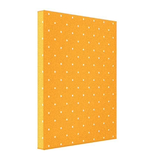 Orange & White Polka Dots Canvas Print