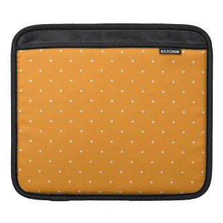 Orange & White Polka Dots iPad Sleeves