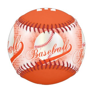 Orange | White Retro Baseball Sports