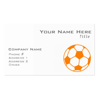 Orange & White Soccer Double-Sided Standard Business Cards (Pack Of 100)